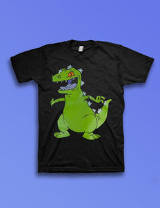 Rugrats Reptar Black T-Shirt - memesmerch
