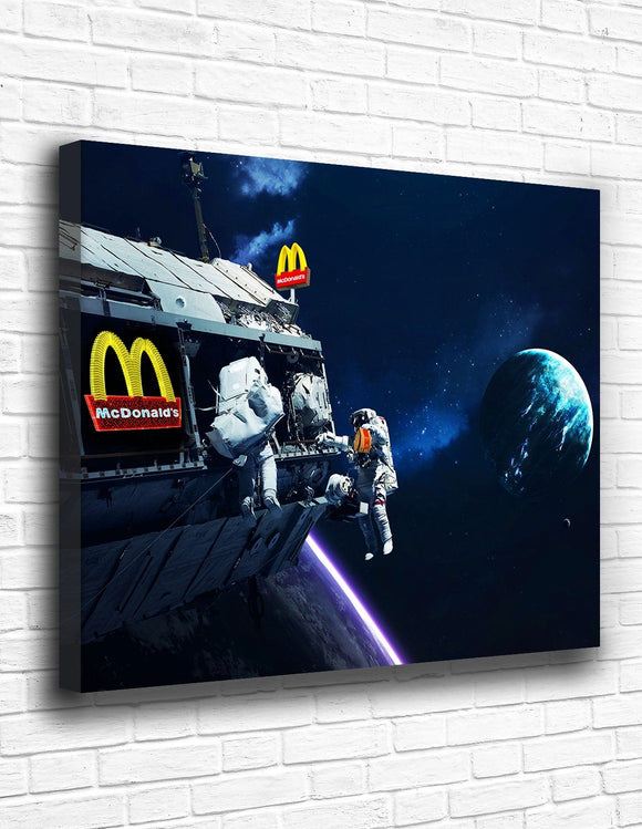 Space McDonald's Canvas - memesmerch