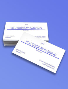 """You Suck at Parking"" Cards - memesmerch"