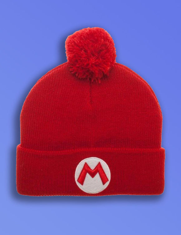 Superman Mario Pom Beanie - memesmerch