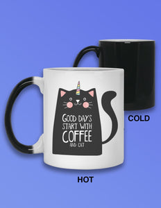 Unicorn Cartoon Cat Heat Mug
