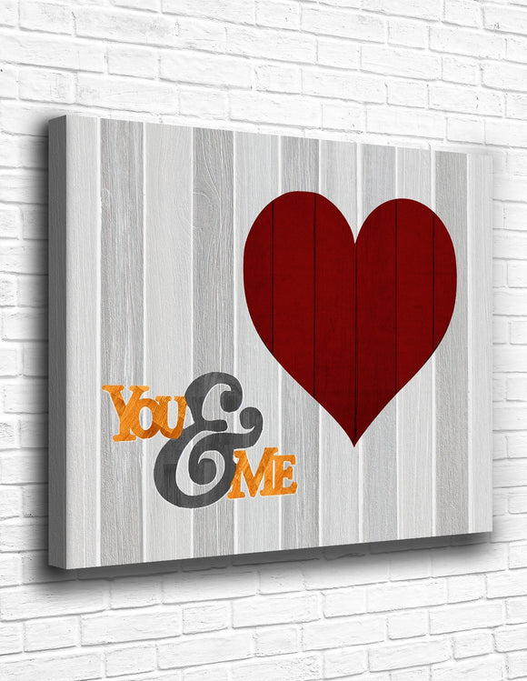 You & Me Canvas - memesmerch