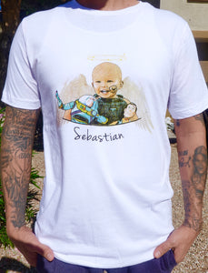 TShirt - White Sebastian Angel Wings