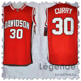 maillot-ncaa-curry-DAVIDSON-rouge