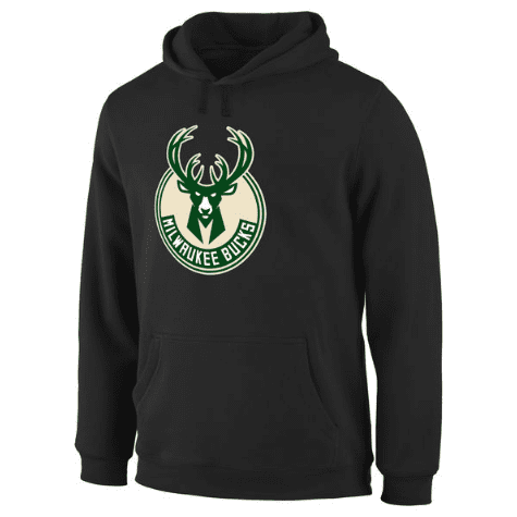 hoodies-noir-bucks-qualité-milwaukee-logo-2