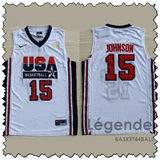 johnson-usa-maillot-dream team-qualité-blanc