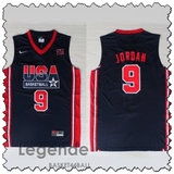 jordan-usa-maillot-dream team-qualité-bleu