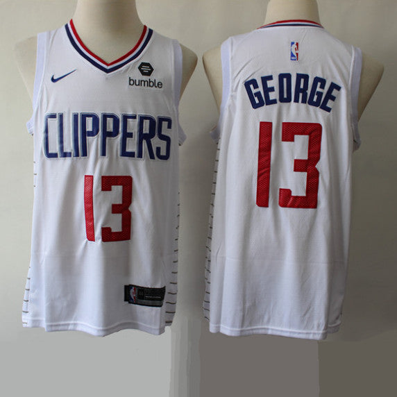 maillot-PG-george-clippers-blanc-brodé
