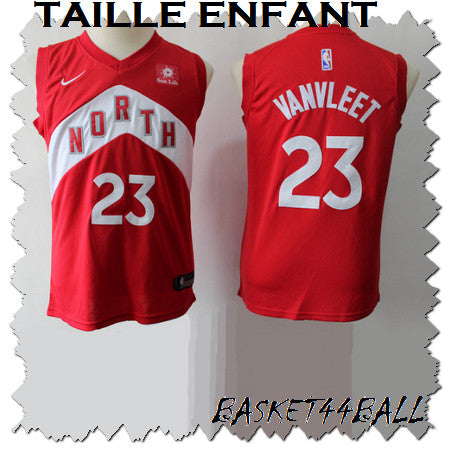 maillot-Vanvleet-raptors-enfant-rouge-earned-23-toronto