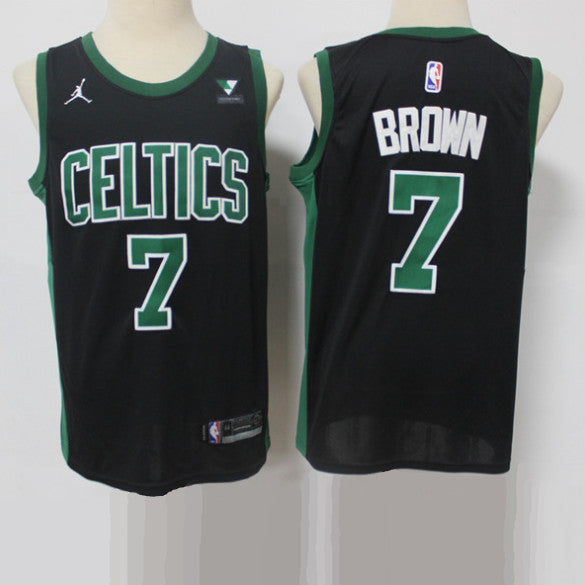 maillot-basket-brown-vert-2021-brodé-statement-jordan-7