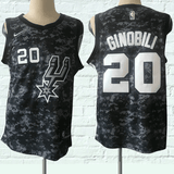 maillot-basket-ginobili-qualité-city edition-spurs-2018-cousus