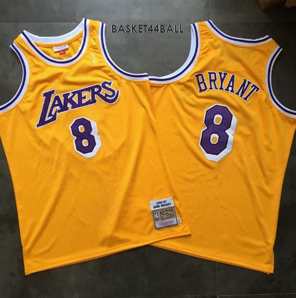 maillot-basket-jaune-mitchell&ness-throwback-kobe-bryant