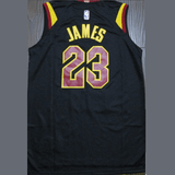 maillot-basket-james-qualité-noir-rayures-2018-back