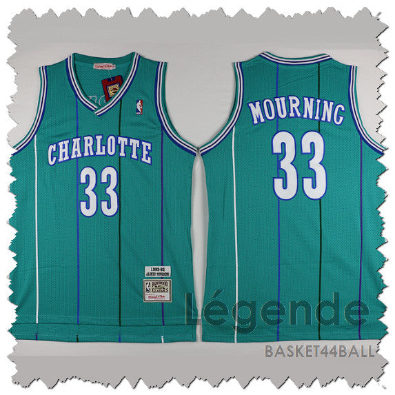 maillot-basket-mourning-qualité-hornets-icon-vert-1992