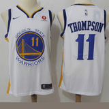 maillot-warriors-thompson-qualité-blanc-2018-jaune