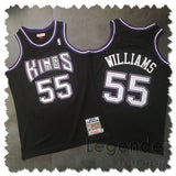 maillot-basket-williams-white chocolate-kings-brodé-noir