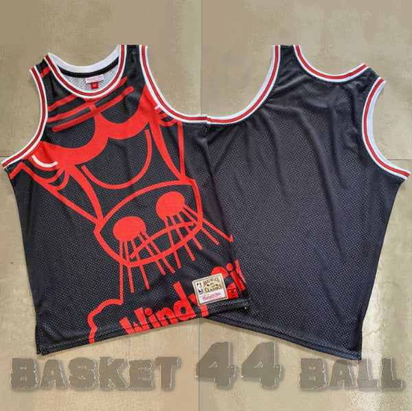 maillot-big face-chicago-bulls-retro-michell & ness-noir