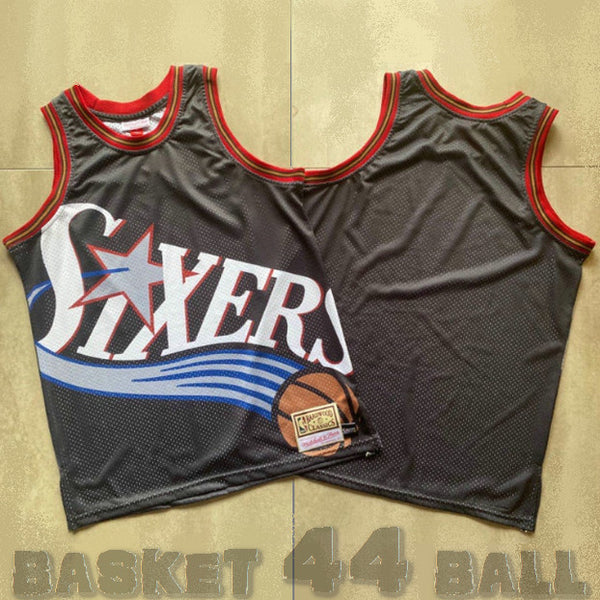 maillot-big face-sixers-philadelphia-76ers-retro-michell & ness-noir