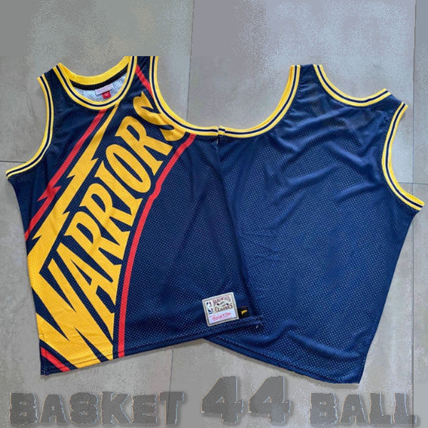maillot-big face-warriors-golden state-retro-michell & ness-bleu