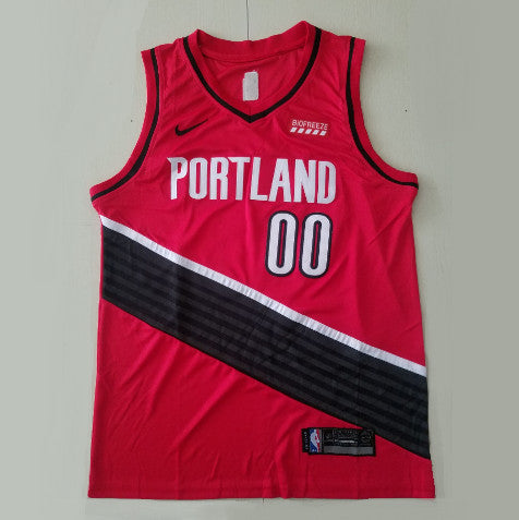 maillot-carmelo-anthony-qualité-rouge-blazers-2020