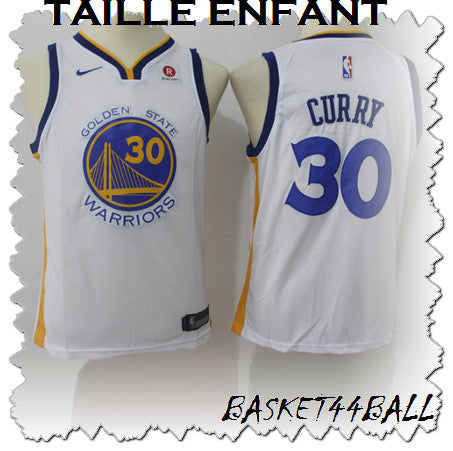 maillot-curry-stephen-blanc-warriors-golden state-enfant-kid