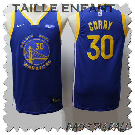 maillot-curry-stephen-bleu-warriors-golden state-2019-enfant