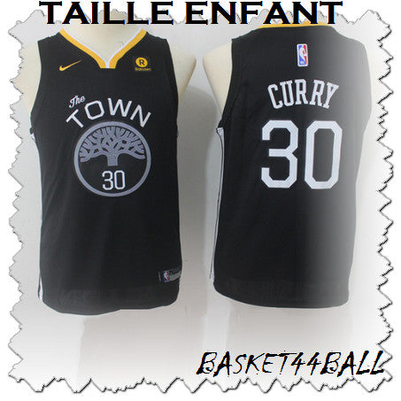 maillot-curry-stephen-noir-warriors-golden state-enfant-kid