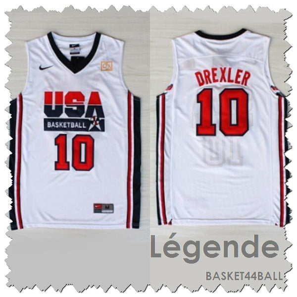 maillot-drexler-clyde-dream team-usa-1992-glide-brodé-blanc