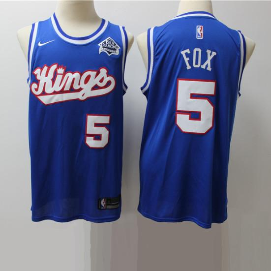 maillot-fox-kings-sacremento-basket-city-brodé-bleu-5