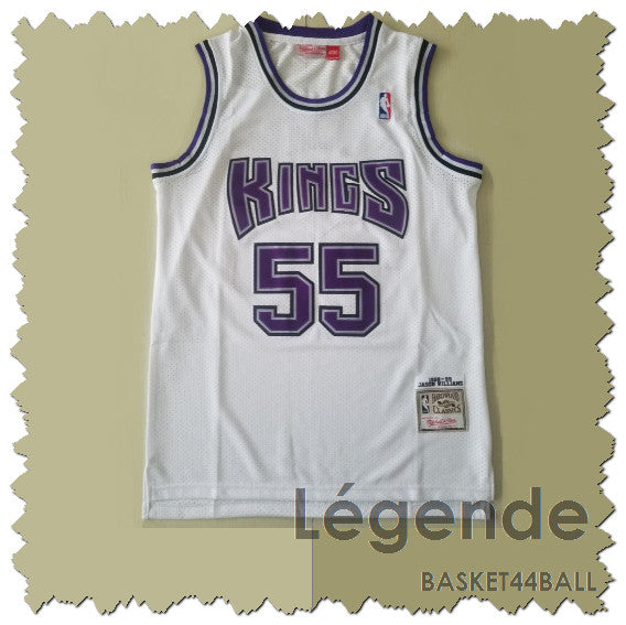 maillot-jason-williams-white chocolate-kings-brodé-blanc-55-1998-1999