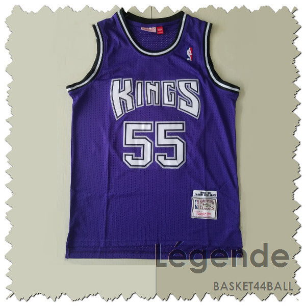 maillot-jason-williams-white chocolate-kings-brodé-violet-55-1998-1999