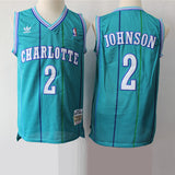 maillot-johnson-larry-icon-brodé-charlotte-hornets-bleu