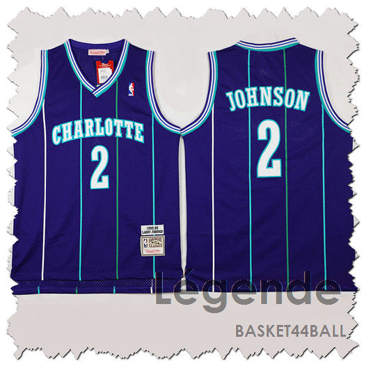 maillot-johnson-larry-qualité-charlotte-hornets-statement