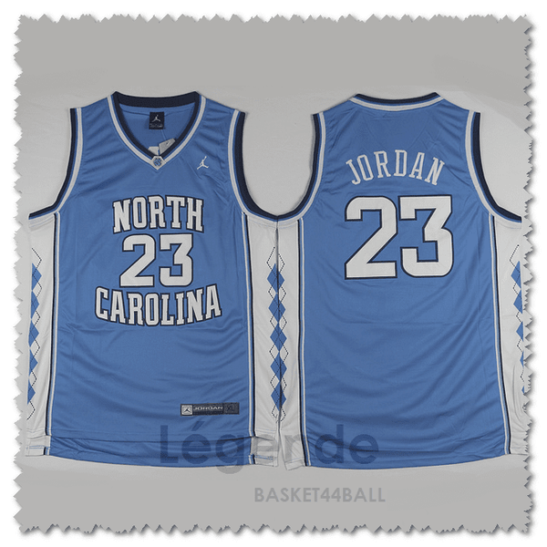 maillot-jordan-north carolina-cousu-qualité-bleu
