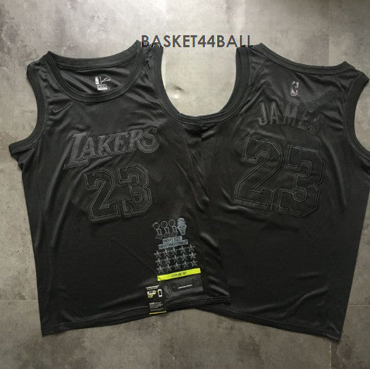 maillot-lebron-james-black-basket-brodé-noir-lakers-mvp-23