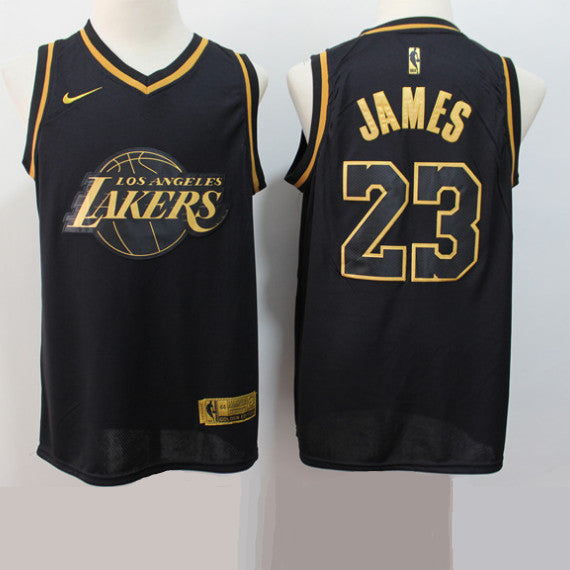 maillot-lebron-james-gold-basket-brodé-noir-lakers-23