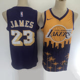 maillot-lebron-james-lakers-2020-los angeles-spécial-palmier