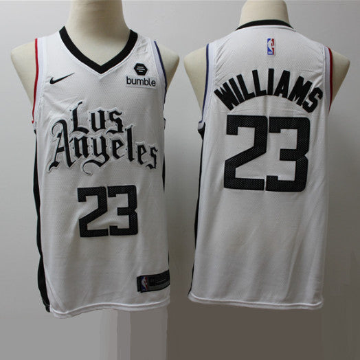 maillot-lou-williams-clippers-blanc-brodé-PG13-gta
