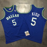 maillot-mavericks-jason-kidd-qualité-brodé-icon-dallas-bleu-1994-1995