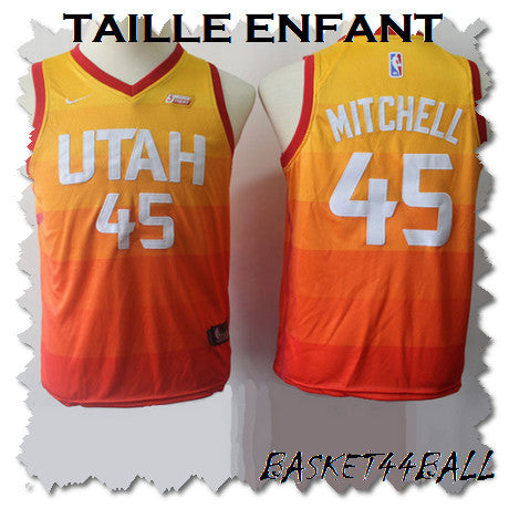 maillot-mitchell-qualité-jazz-city-enfant-kid