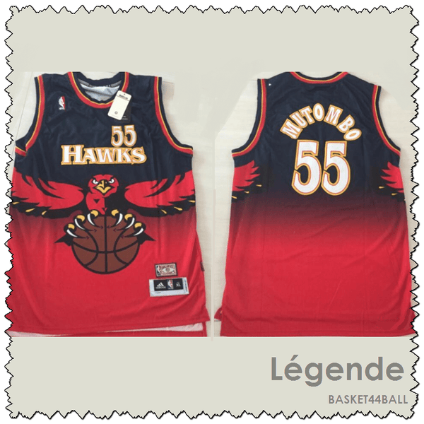 maillot-hawks-mutombo-qualité-rouge