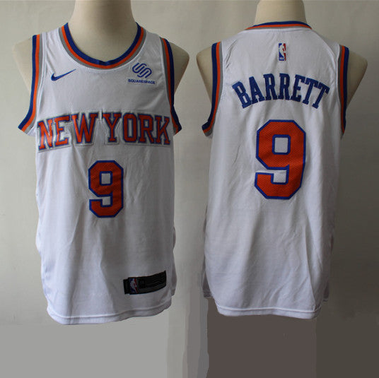 maillot-rj-barrett-knicks-association-2019-brodé-blanc
