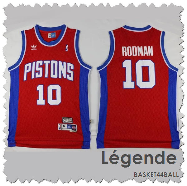 maillot-rodman-dennis-pistons-brodé-statement edition-rouge