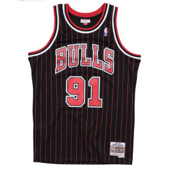 maillot-rodman-statement-1996-1997-mitchell and ness-91-rayures-back