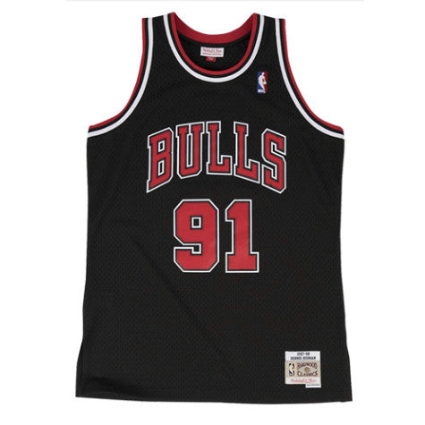 maillot-rodman-statement-brodé-basket-mitchell and ness-91