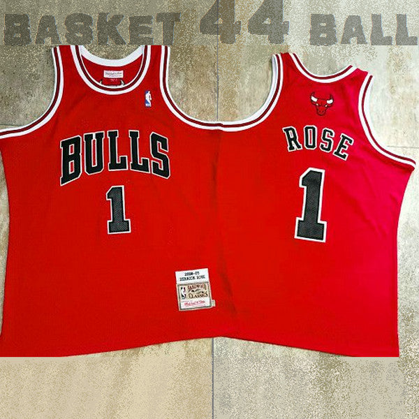 maillot-rose-bulls-derrick-2008-2009-rouge-qualité-1-chicago
