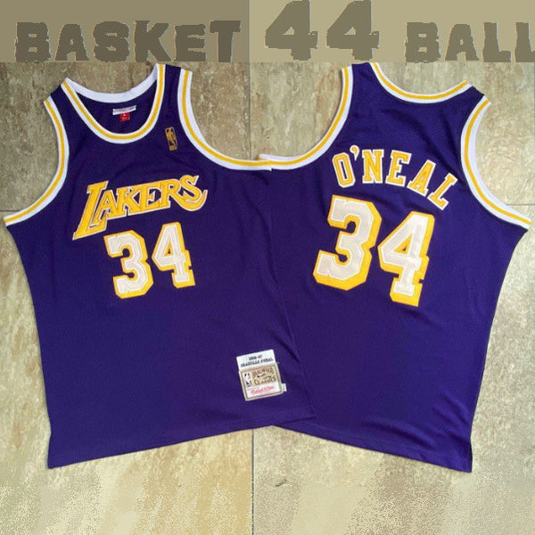 maillot-shaquille-o'neal-shaq-34-violet-statement-brode-1996-1997