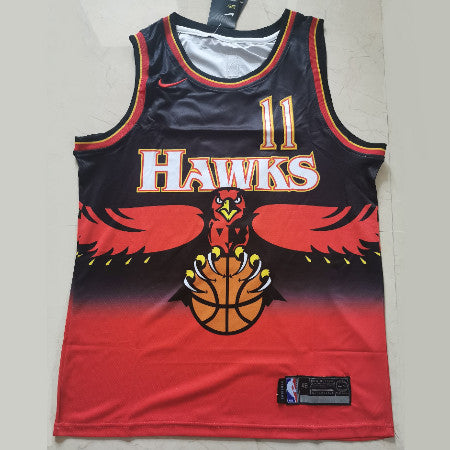 maillot-trae-young-hawks-atlanta-retro-qualité-rouge-11