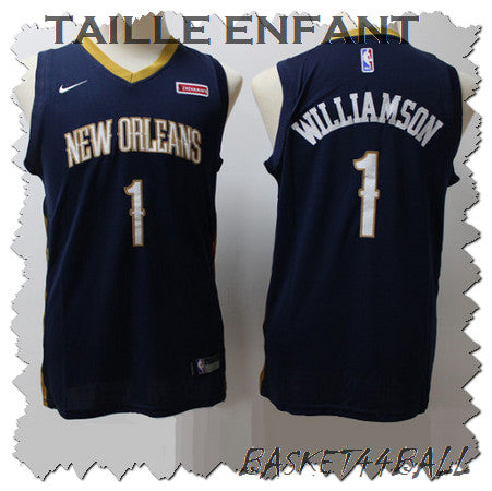 maillot-zion-williamson-noir-new orleans-pelicans-enfant