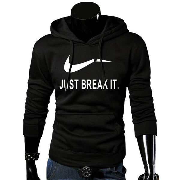 pull-just break it-capuche-qualité-promo-noir